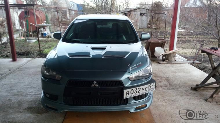 Тюнинг Mitsubishi Lancer X замена линз devil eyes (1)