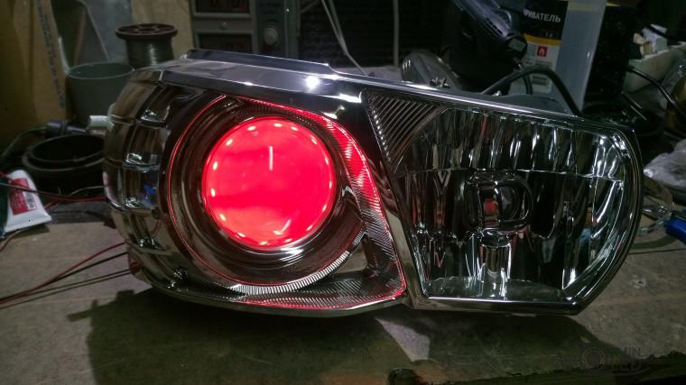 Тюнинг Mitsubishi Lancer X замена линз devil eyes (10)