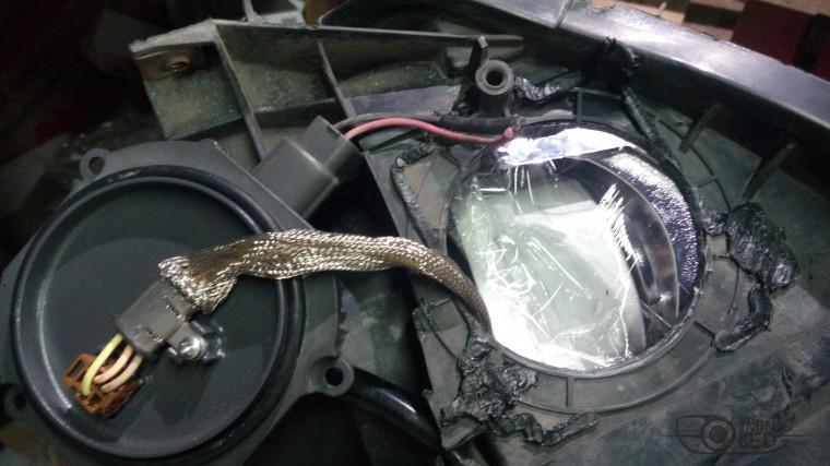 Тюнинг Mitsubishi Lancer X замена линз devil eyes (12)