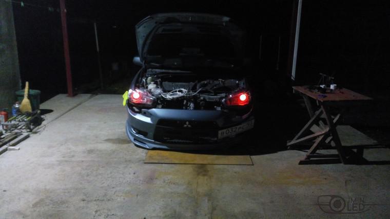 Тюнинг Mitsubishi Lancer X замена линз devil eyes (15)