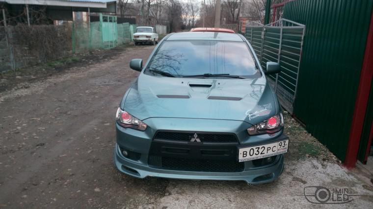 Тюнинг Mitsubishi Lancer X замена линз devil eyes (21)