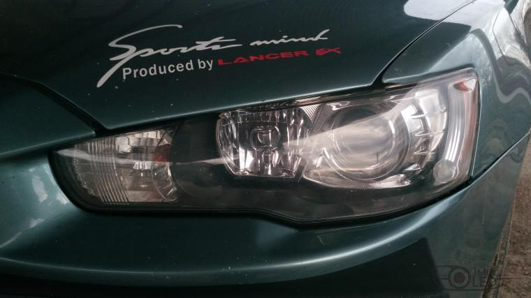 Тюнинг Mitsubishi Lancer X замена линз devil eyes (3)