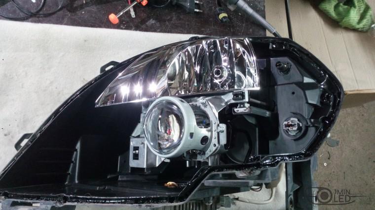 Тюнинг Nissan Teana замена линз ксенон (12)