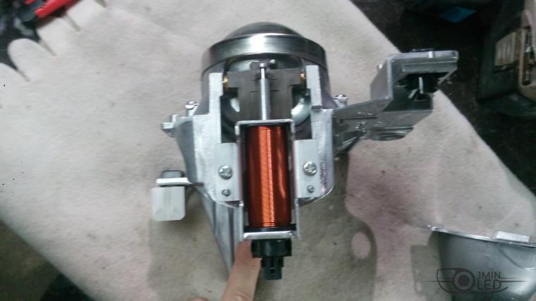 Тюнинг Nissan Teana замена линз ксенон (25)