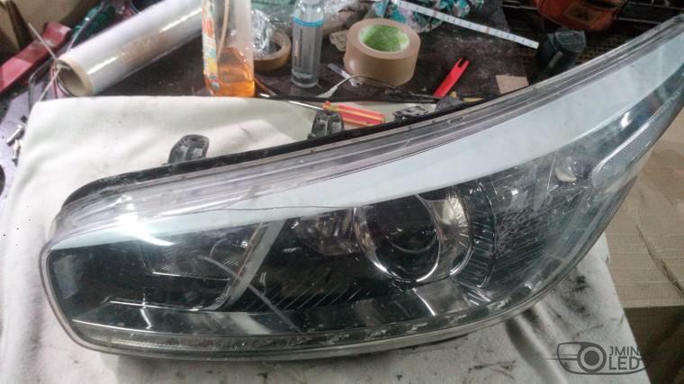 ремонт фары замена стекла kia ceed (5)