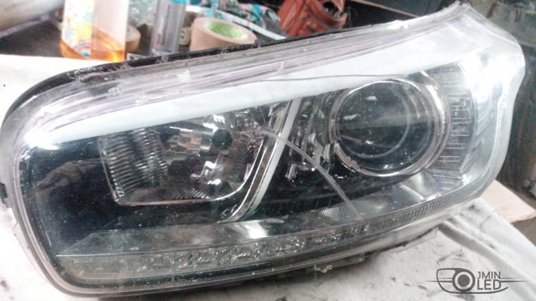 ремонт фары замена стекла kia ceed (6)