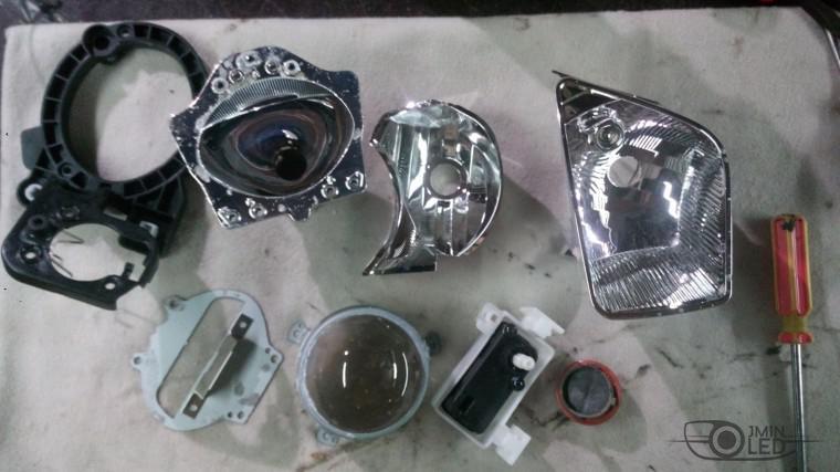 ремонт фары замена стекла kia ceed (9)