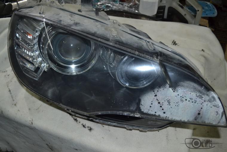 ремонт фар замена стекла bmw x5 e70 (2)