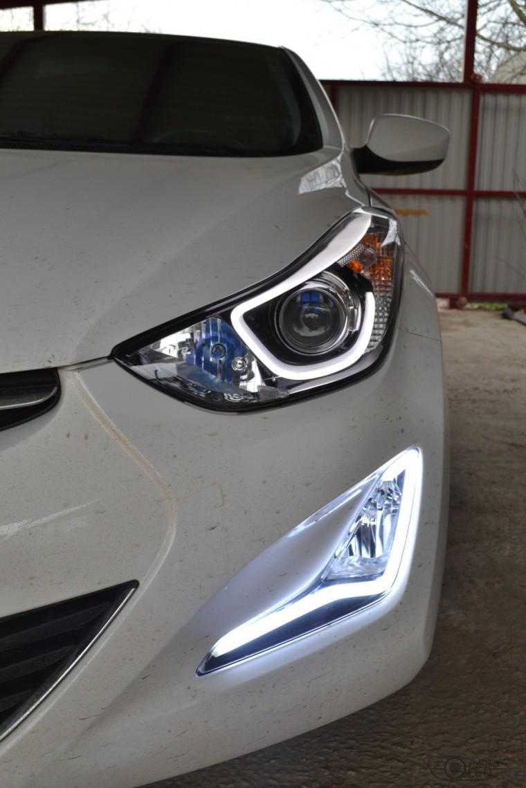 тюнинг фар hyundai elantra птф светодиоды (7)