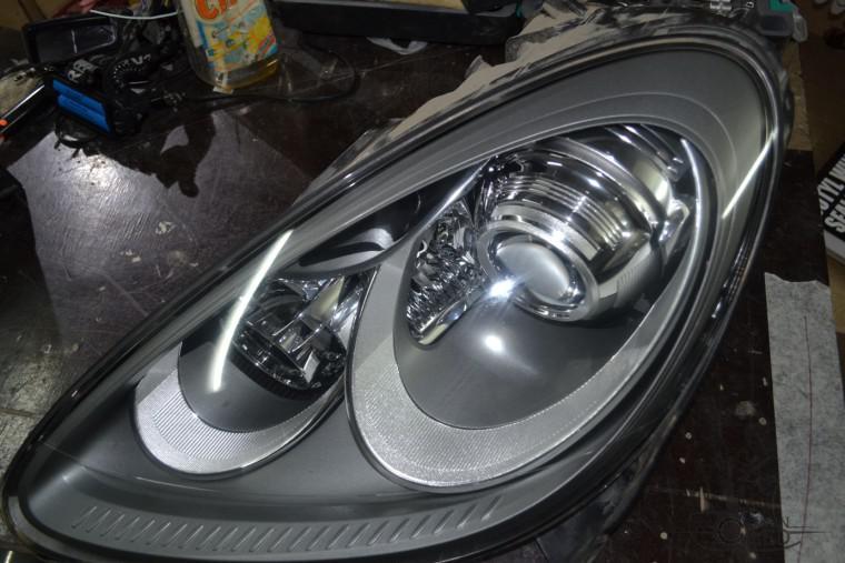 Тюнинг фар покраска фар Porsche Cayenne порш каен