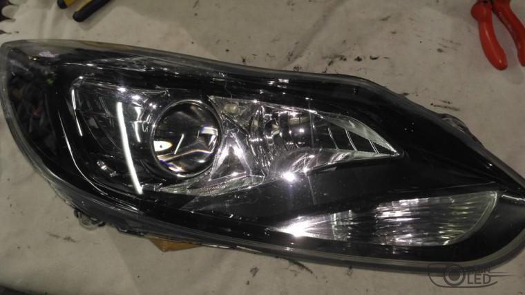 тюнинг фар ford focus 3 установка замена линз биксенон (11)