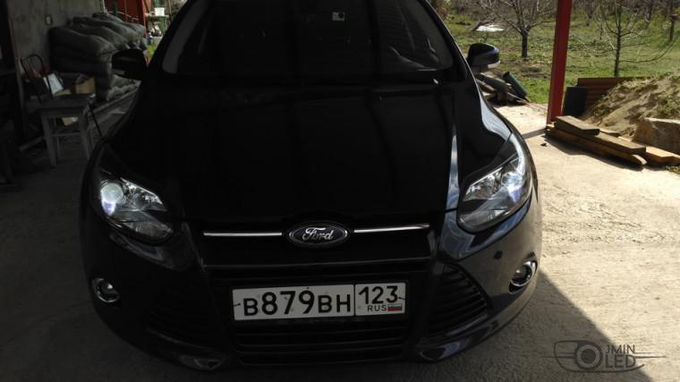 тюнинг фар ford focus 3 установка замена линз биксенон (6)