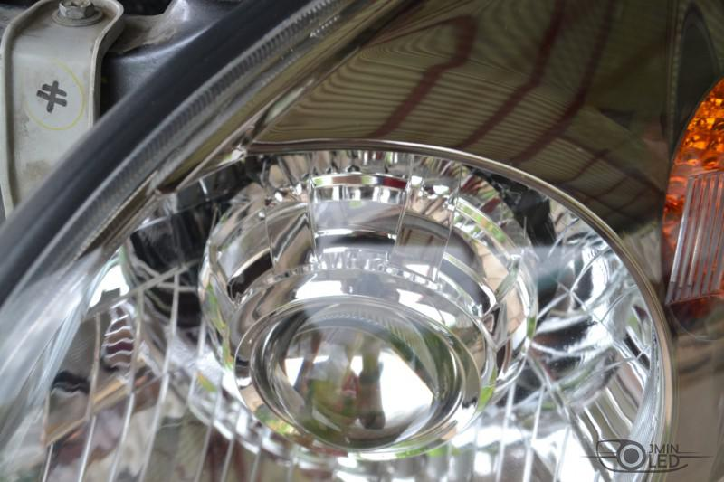тюнинг фар Toyota Land Cruiser Prado 120 установка линз (18)