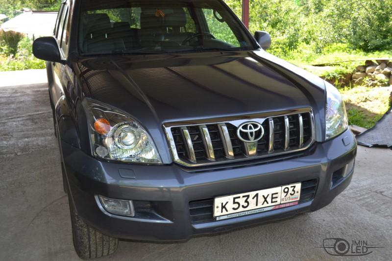 тюнинг фар Toyota Land Cruiser Prado 120 установка линз (27)